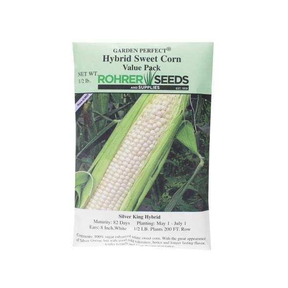 Rohrer Seeds Silver King Hybrid Sweet Corn Value Pack