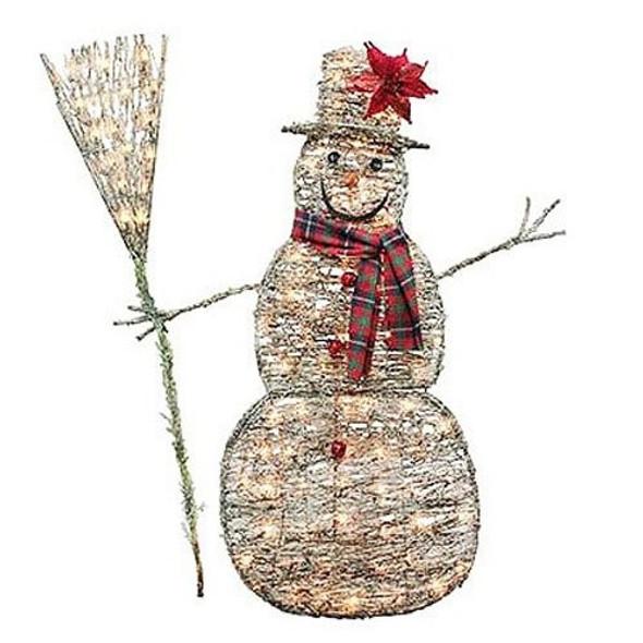 "48"" Grapevine Snowman, Damaged Box"