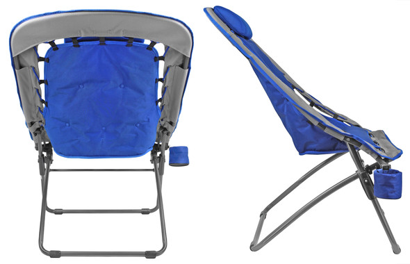 Foldable Rectangular Air Mesh Indoor Outdoor Bungee Chair (Pack of 1, Unwrapped Chair)