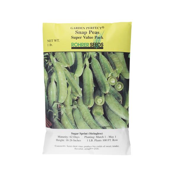 Rohrer Seed Super Value Pack, Sugar Sprint (Stringless), 1 Pound Bag
