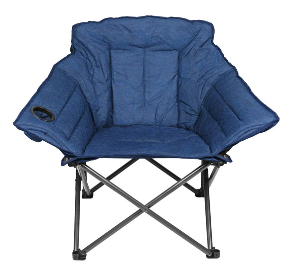 Zenithen Limited Alternative Club Portable Folding Outdoor Camping Chair, Navy Blue
