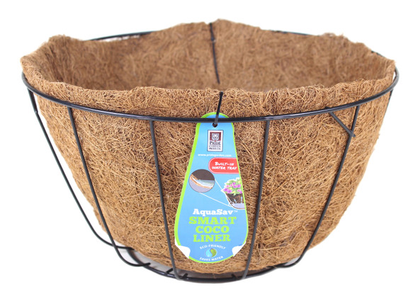"""Pride Garden Products 5112PB Grower Hanging Baskets with AquaSav Smart Coco Liner, 12"""""""