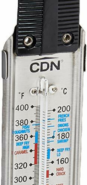 CDN TCG400-Candy & Deep Fry Ruler Thermometer, 1, Black
