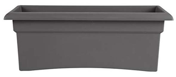Bloem VER26908 Veranda Window Deck Box Planter 26 x 11 Charcoal