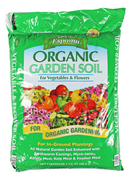 Espoma Company VFGS1 Organic Vegetable and Flower Soil, 1 Cu Ft