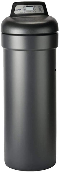 EcoPure 31,000 Grain Softener Salt & Water Saving Autosense Technology for Whole House, Dark Gray