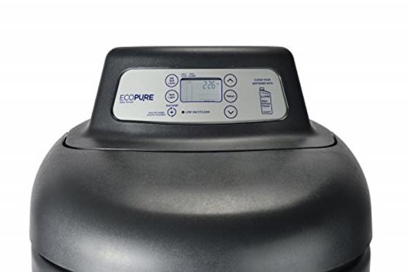 EcoPure 42,000 Grain Softener Salt & Water Saving Autosense Technology for Whole House Soft Water Regeneration, Dark Gray