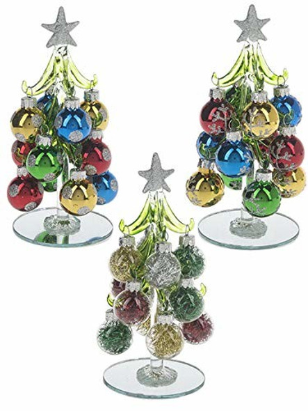 Ganz EX29342 Set of 3 Christmas Trees w/ Small Ornaments