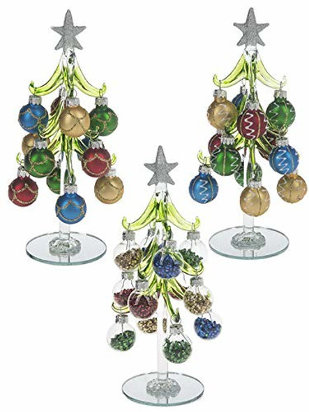 Ganz Christmas Tree with Ornaments Medium Set of 3 Assorted
