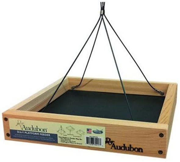 Woodlink NAPLAT2 Audubon 3 In 1 Platform Feeder, Beige