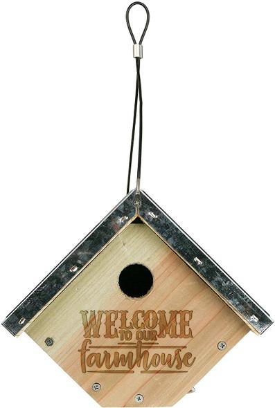 Wild Wings 066570 Galvanized Weathered Cedar Wren House