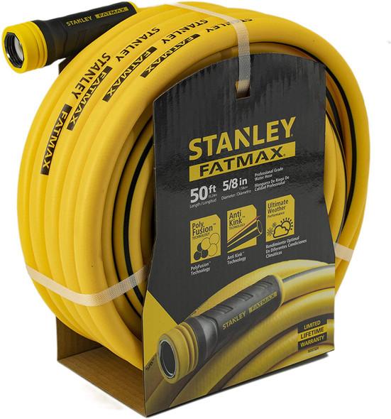 "Stanley Fatmax Professional Grade Water Hose, 50' x 5/8"", Yellow 500 PSI"