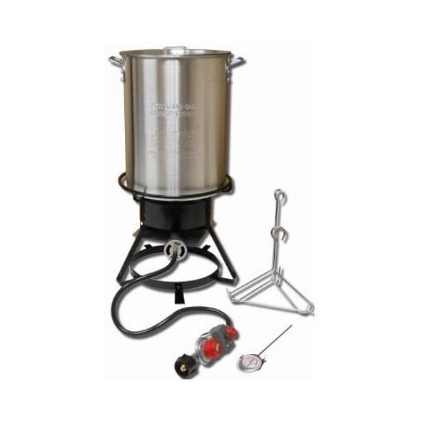 King Kooker 1229 Aluminum Turkey Frying Cooker Package, 29 Quarts