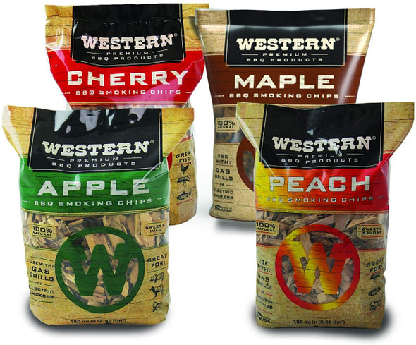 WESTERN 80485 BBQ Smoking Chips, 4 pack