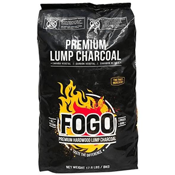 Fogo Premium Hardwood Lump Charcoal Black Bag, 17.6 Pounds