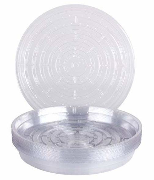 """Curtis Wagner Round Clear Vinyl Plant Saucer, 10"""" - 1 Pack"""