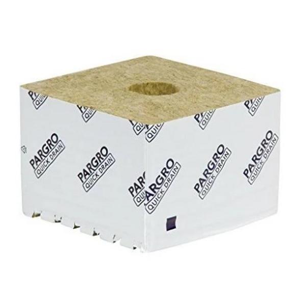 Grodan Pargro Quick Drain Jumbo Gro-Block (6 in x 6 in x 4in) w/ Hole - 1 Block