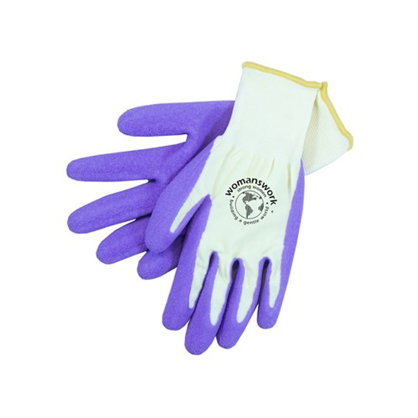 Womanswork 440PUR L Purple Form Fitting Weeder Gardening Gloves, Large