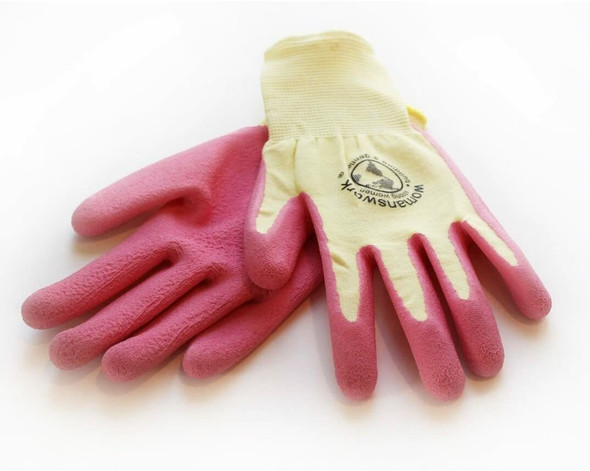 Womanswork 440PINKS Pink Form Fitting Weeder Gardening Gloves, Small
