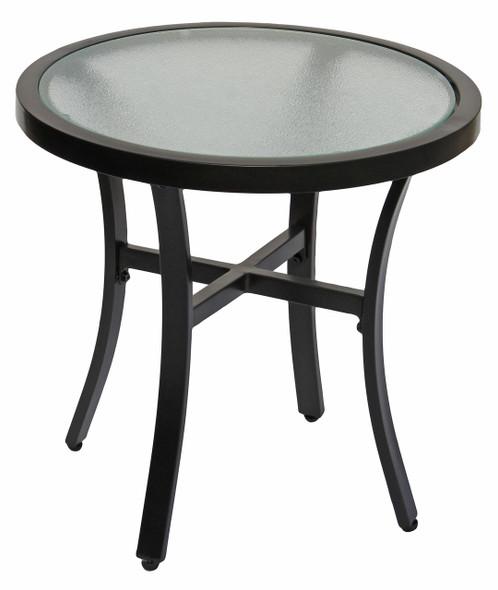Garden Elements Bellevue Patio Bistro Set, 2 Swivel Chairs & 20 Glass Top Table