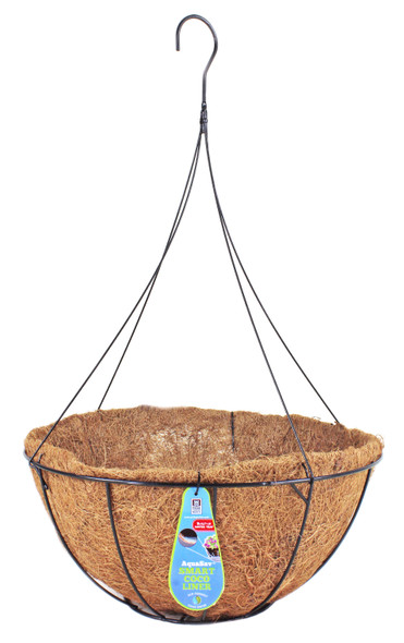 """Pride Garden Products 5116PB Grower Hanging Baskets with AquaSav Smart Coco Liner, 16"""""""