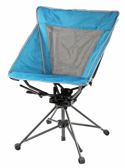 Garden Elements Tall Back Swivel Camping Chair, Mesh Seat, Teal (Pack of 1)