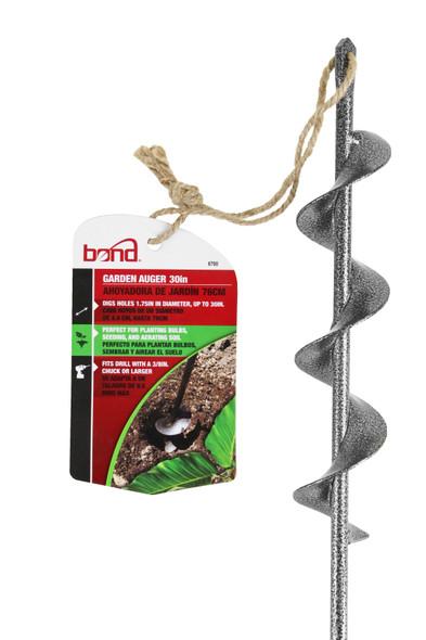 Bond Steel Garden Metal Handle Roto Digger Auger, 30 Inches