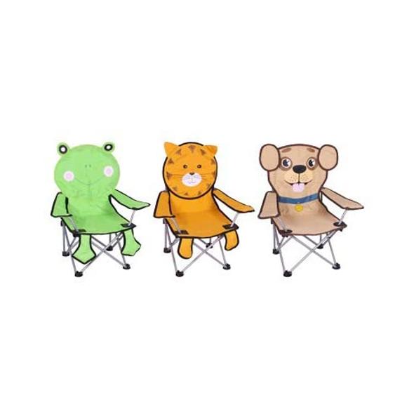 FSC Childrenƒ??s Animal Folding Quad Chair w/ Carrying Case, Set of 3