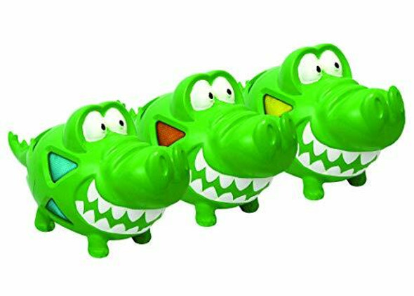 """Multipet Multi-Armor Gator 8"""" Dog Toy, Assorted Colors (3 Count)"""
