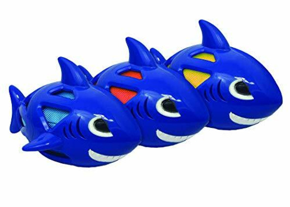 Multipet Multi-Armor Pet Toy Shark 8 in, Assorted Colors (3 Count)
