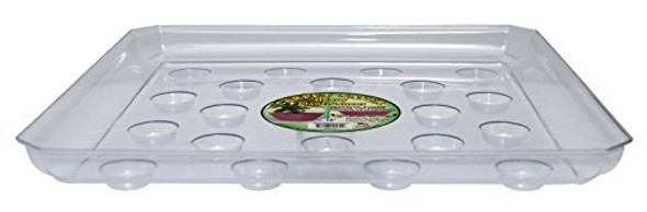 Heavy Gauge Footed Square Carpet Saver Saucer, 14-Inch by 14-Inch, Clear