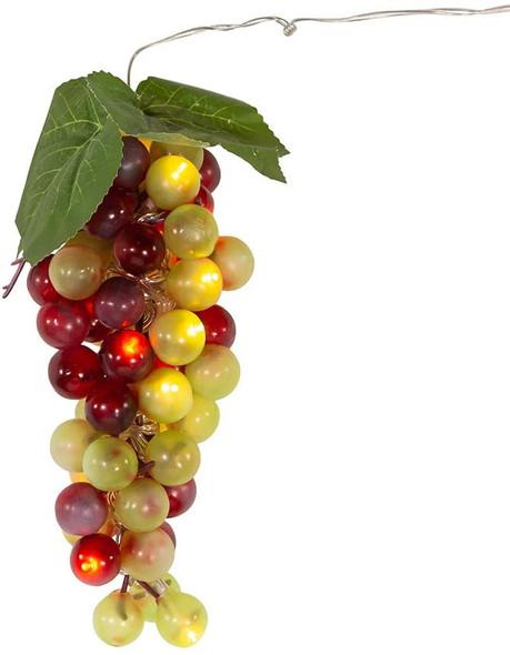20-Light Battery Operated Warm White Single Multi-Color Grape Cluster Light Set