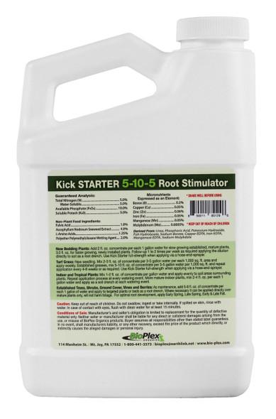 Bioplex Kick Start Transplant Starter and Root Stimulator 5-10-5, 32 Fluid Ounces