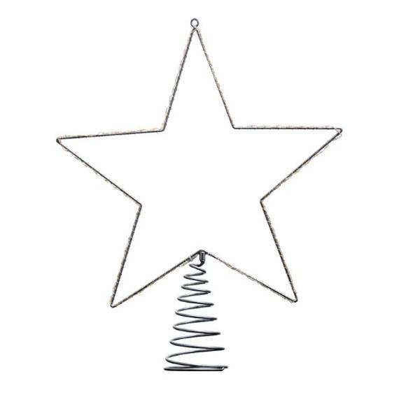 "Kurt Adler (#UL2311) Metal Wire Lighted LED Star Treetop, 17.5"""