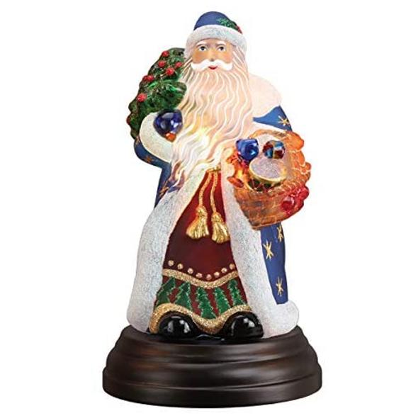 "Old World Christmas (#529781) Regal Father Christmas Table Light, 10.5"""