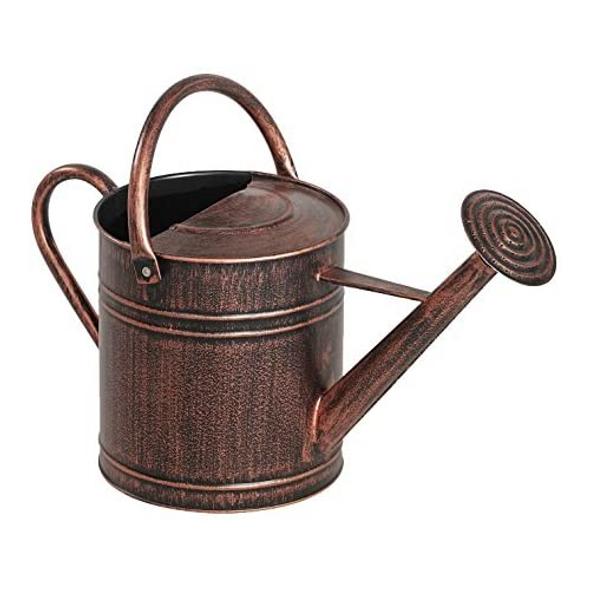 Panacea 84872 Brushed Bronze Standard Garden Watering Can, 2 Gallon