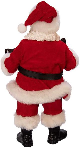 "Kurt S. Adler Hershey Bar Fabric Santa Figurine, Multi, 10"""