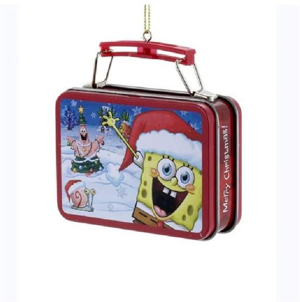 "Kurt Adler Spongebob Miniature Tin Lunch Box Ornament, 3.18"""