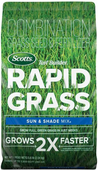 Scotts Turf Builder Rapid Grass Sun & Shade Mix, 5.6lb