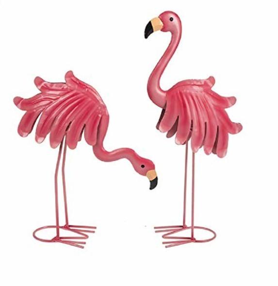 """Ganz Home Garden Tropical Flamingo Figurines (2 pieces) 14"""""""
