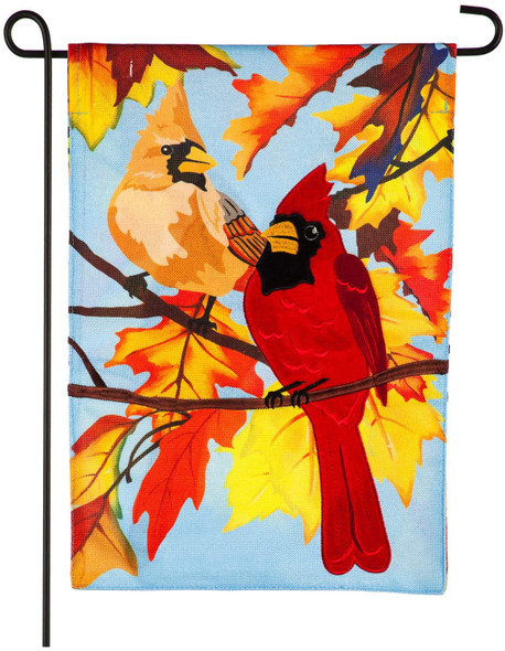 Evergreen Flag Cardinal Couple Garden Burlap Flag