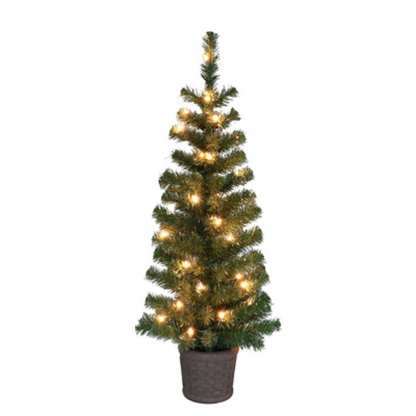 Puleo 236-PT7364-35C035-TV Artificial Porch Christmas Tree, Green, 42 Inch