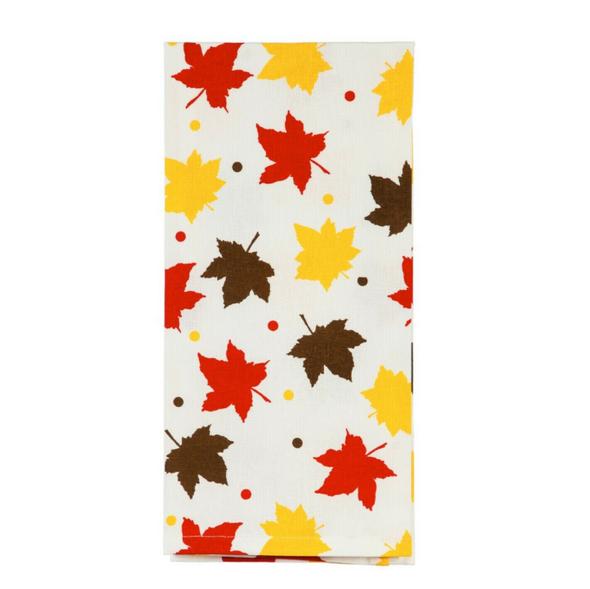 Evergreen Tea Towels Fall Harvest - Autumn Leaves & Pumpkins Please (Set of 2)