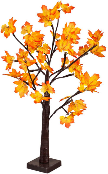 """Evergreen Fall Holiday 24"""" LED Maple Tree with 24 Lights"""