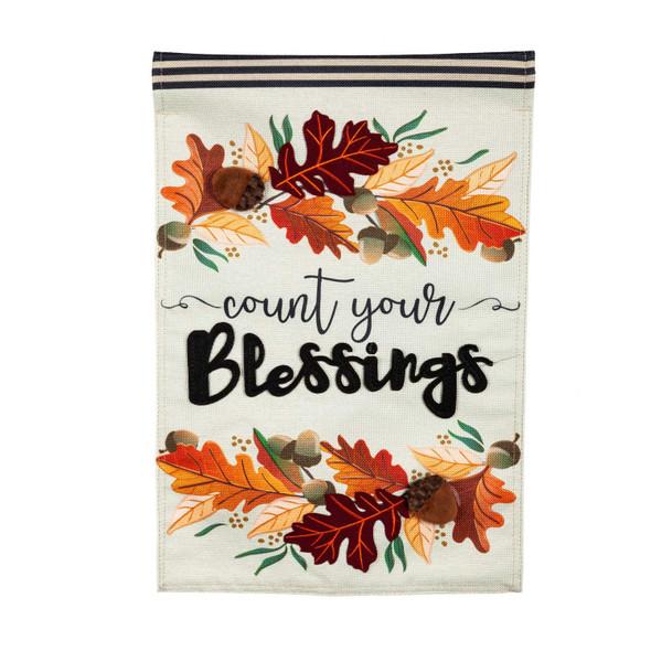 "Evergreen  ""Count Your Blessings"" Garden Flag"