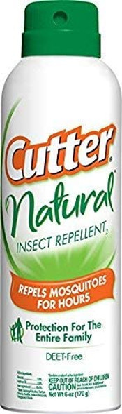 Cutter Natural Insect Repellent Deet-Free Aerosol