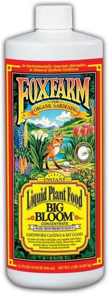 FoxFarm FX14002 Big Bloom Liquid Fertilizer Concentrate, 1 Quart