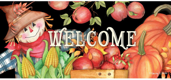 Evergreen Flag Harvest Scarecrow Welcome Switch Mat