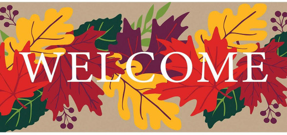 Evergreen Flag Fall Leaves Welcome Interchangeable Switch Mat