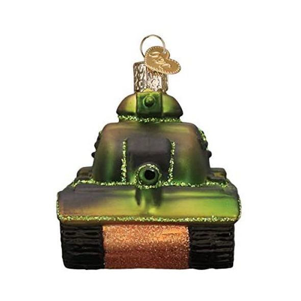 Old World Christmas Glass Blown Ornaments, Military Tank